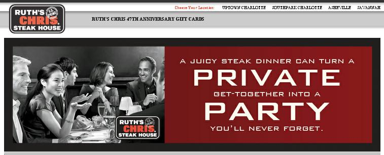 Asheville Deal: $77 Gift Card for only $49 at Ruth's Chris