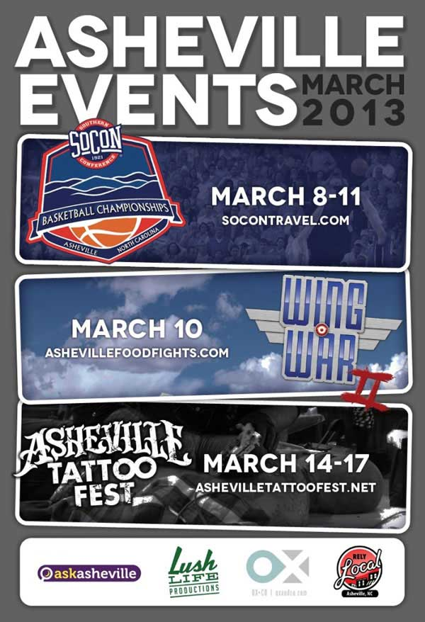 Asheville Events during the month of March 2013