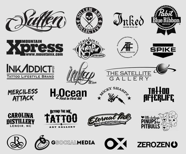 Sponsors for the 2013 Asheville Tattoo Fest