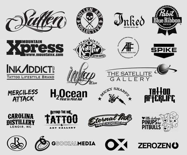 Sponsors for the 2013 Asheville Tattoo Fest
