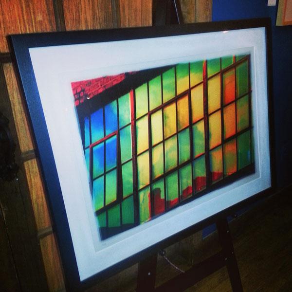 Lynne Harty Photography painting at the Cantina at Biltmore