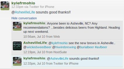 Asheville Beer Tweet 1