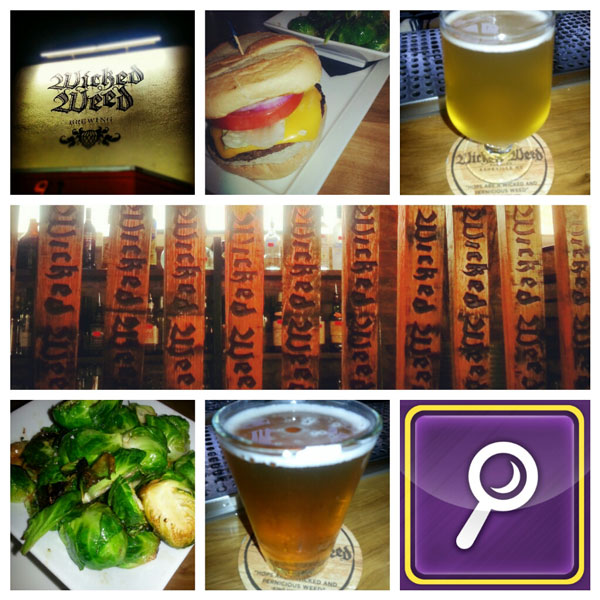 beer, food, wicked weed in asheville nc
