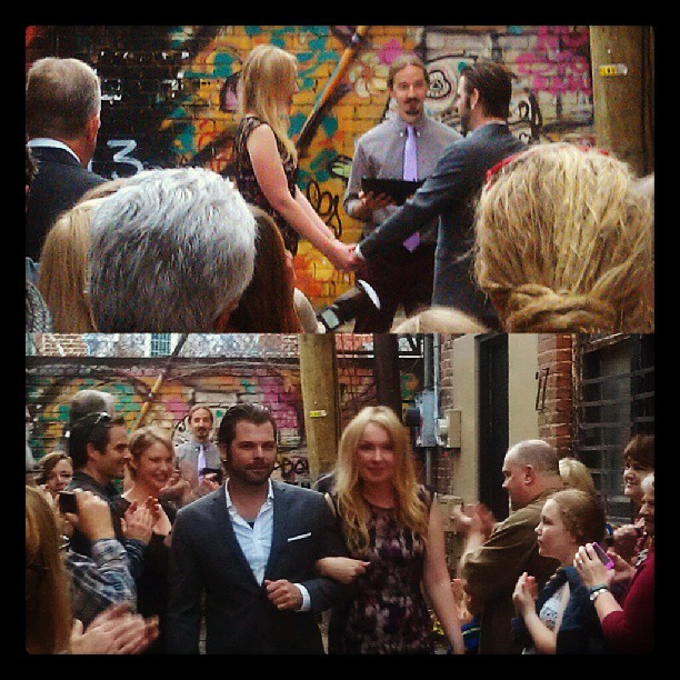 asheville wedding in chicken alley