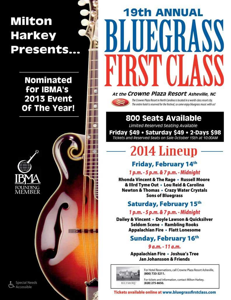 asheville bluegrass first class 2014