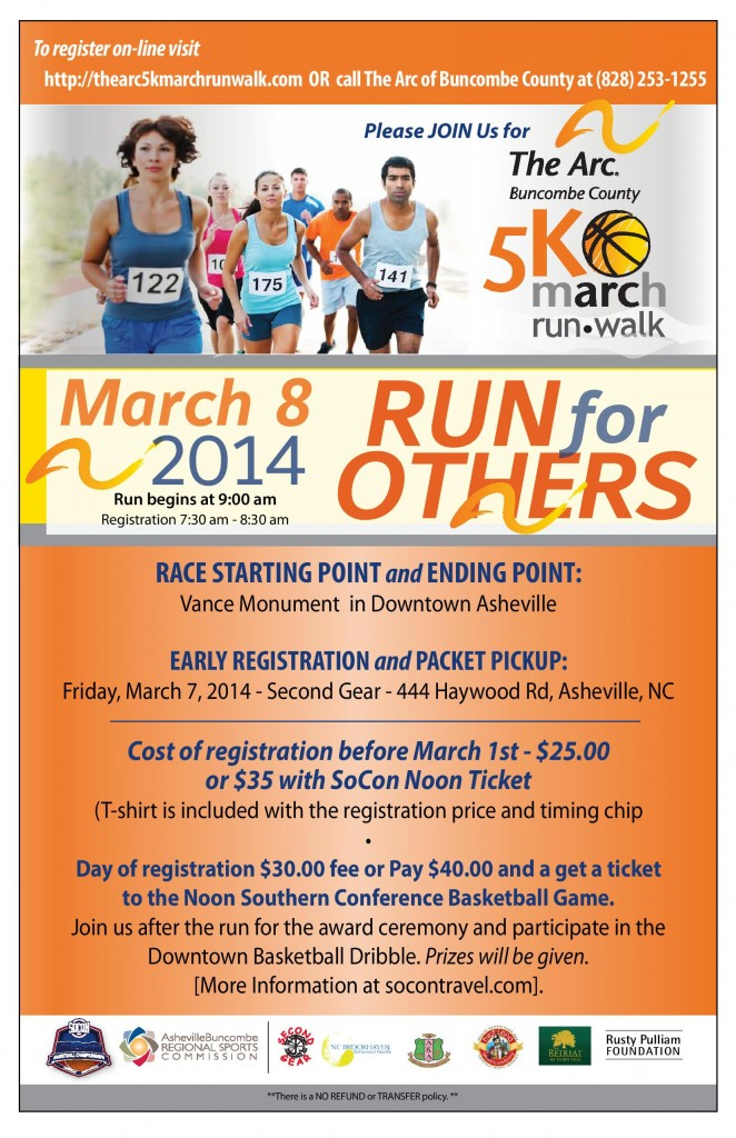 The Arc of Buncombe County's 5K March Run Walk