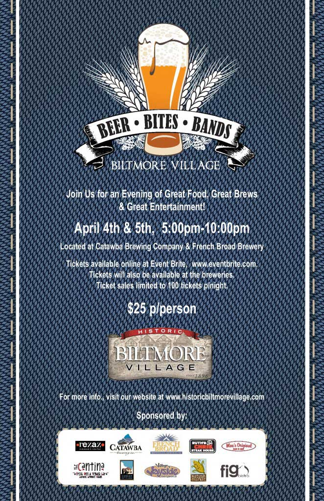 asheville beer bites bands biltmore village