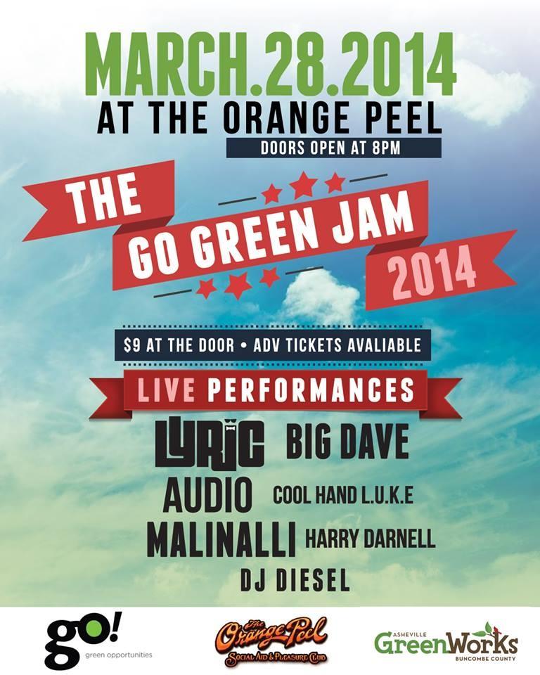 Asheville Go Green Jam 2014