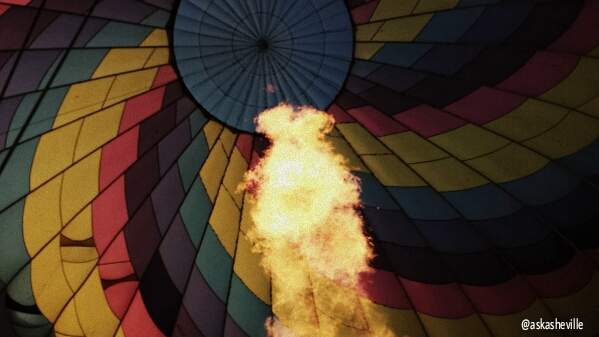 asheville hot air fire