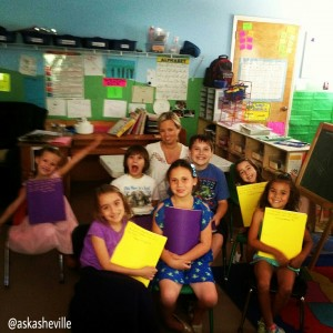 The smiling faces at All God's Children with their journals!  They even let me photo-bomb :)