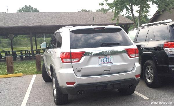asheville la fit license plate