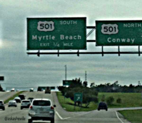 road to myrtle beach