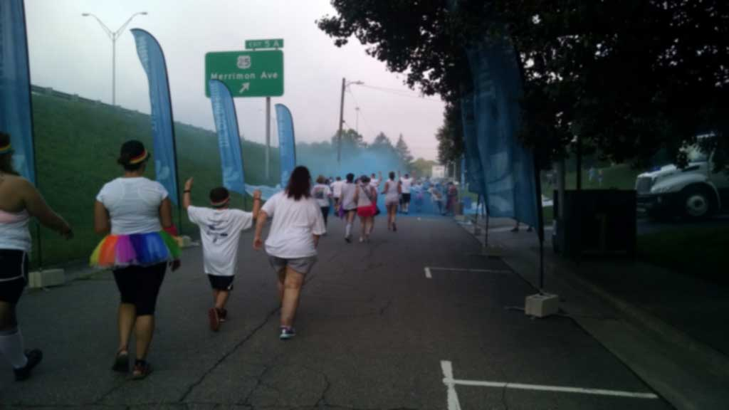 asheville color run blue