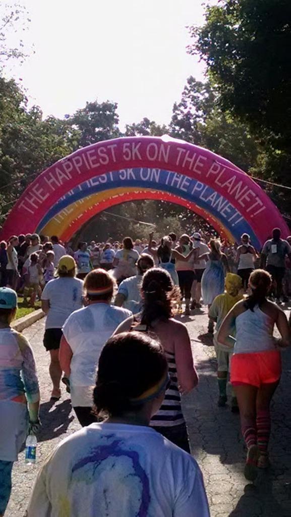 Asheville Color Run Finish Line