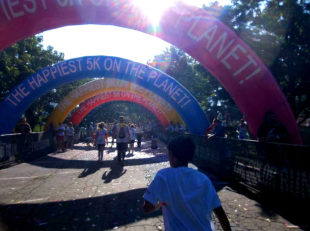 Color Run Asheville Finish Line