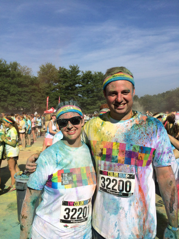 jonathan and laura crawford candler nc color run