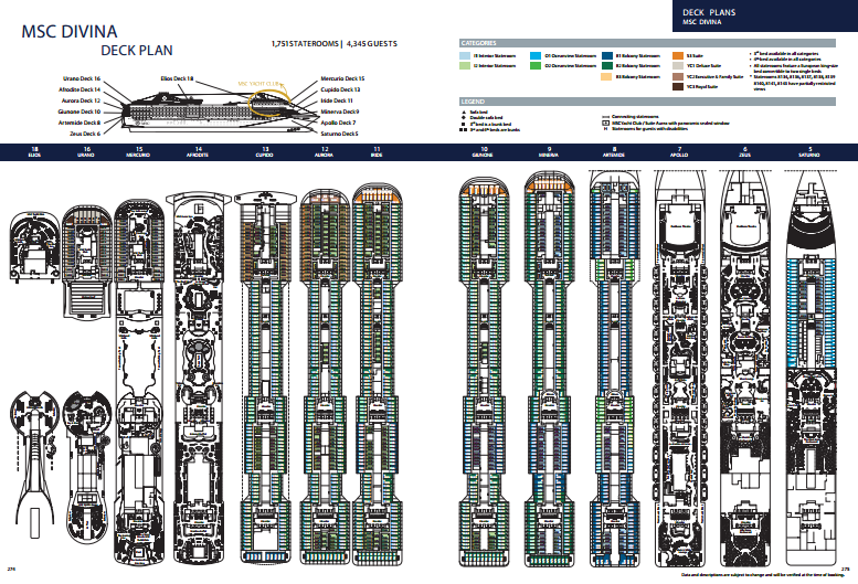 msc divina cruise deck plan