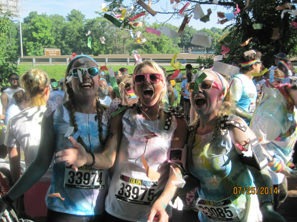 Margaret Sheri Erin Asheville Color Run