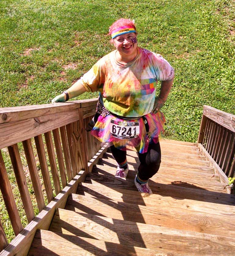 rose marie asheville color run
