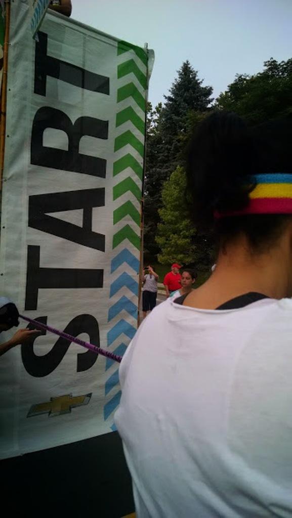 asheville color run start line