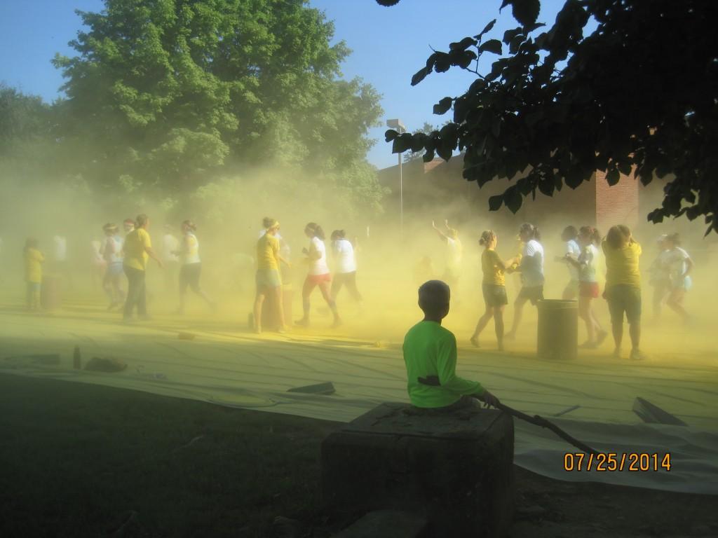 tyson color run asheville party
