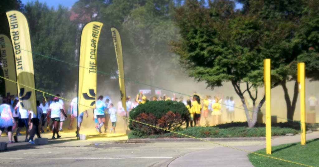 asheville color run yellow