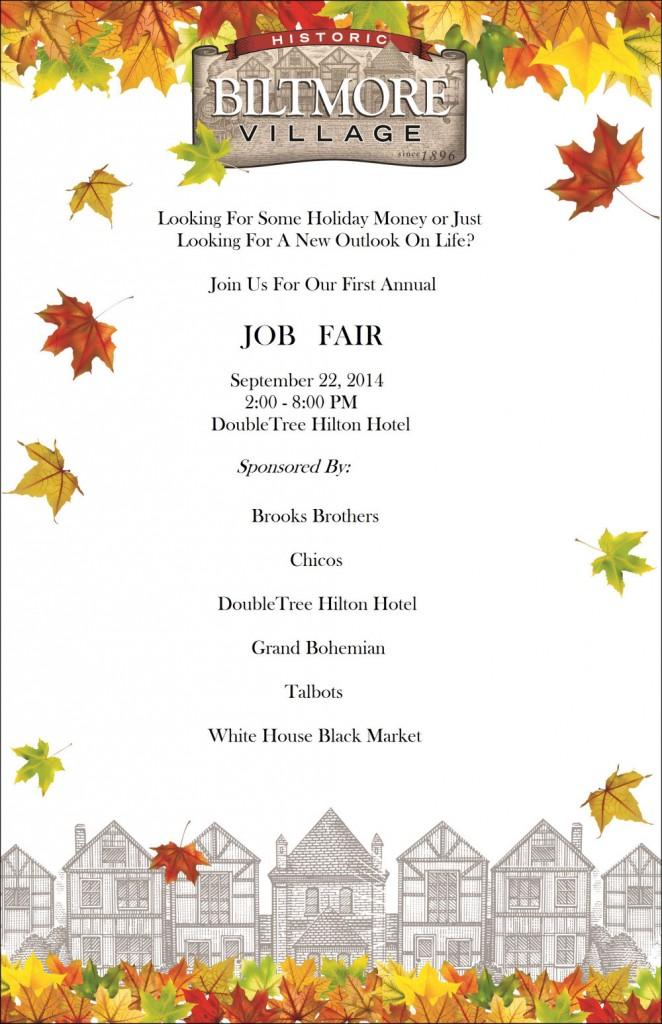 biltmore village asheville job fair