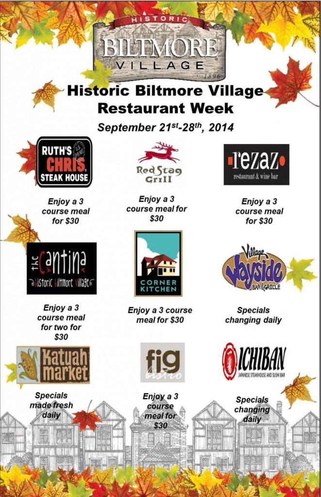 biltmore village asheville restaurant week