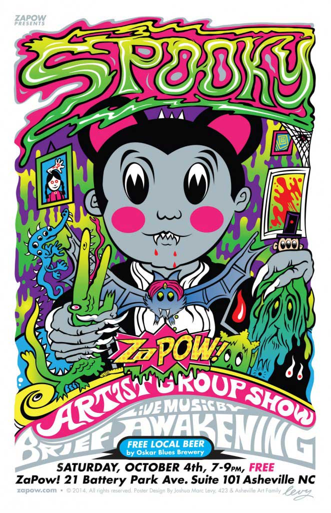 spooky artist group show asheville