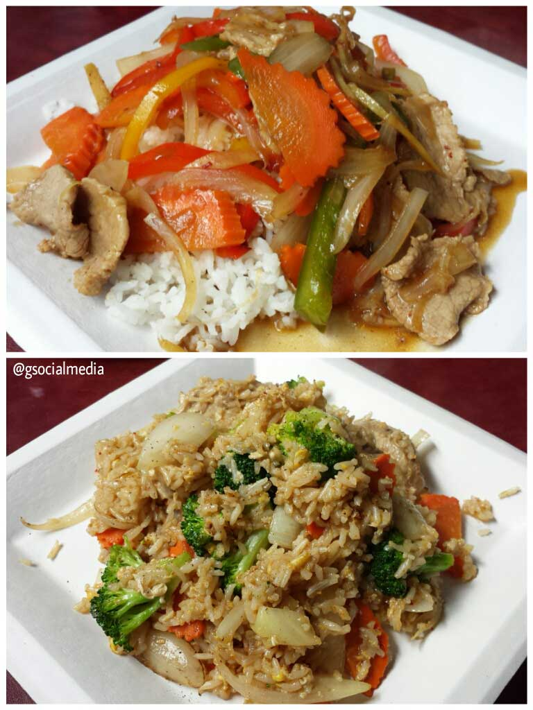 Thai To-Go ginger plate and Thai Fried Rice with Beef